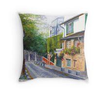 Rue Cortot Throw Pillow