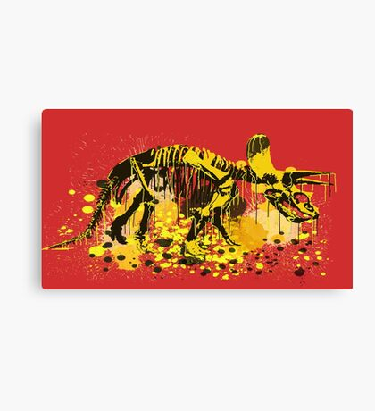 Drip Dry Triceratops Canvas Print