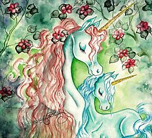 Mother & Baby Unicorn by AngelArtiste