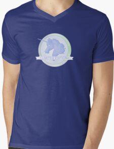Blue Unicorn Logo - 'Limited Edition' Design Mens V-Neck T-Shirt