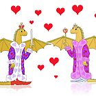 Dragon King and Queen of Hearts by SeaSerpent