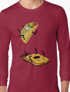 Taco Vs. Grilled Cheese Sandwich Long Sleeve T-Shirt