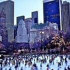 Ice Skaters, Central Park, New York, USA. by johnrf