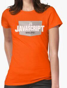 javascript developer Womens Fitted T-Shirt