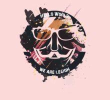 hacker - anonymous - hello world One Piece - Long Sleeve