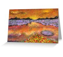 Orange Twilight Greeting Card