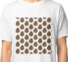 Pine Cone Pattern Print Classic T-Shirt