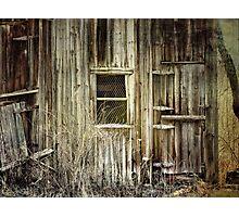 Old windows Photographic Print
