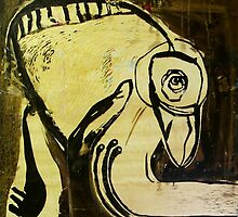 mangrove monster woodblock by donnamalone