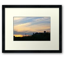Ocean City Sunset Framed Print