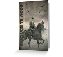 The Skeleton and The Horse Greeting Card