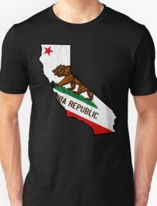 California State Bear Flag (vintage distressed design) T-Shirt
