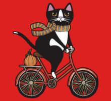 Cat on a Bicycle  One Piece - Short Sleeve