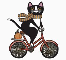 Cat on a Bicycle  Kids Tee