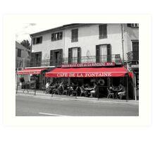 cafe de la fontaine Art Print
