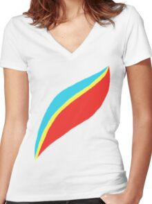 Captain EO (brighter) Women's Fitted V-Neck T-Shirt