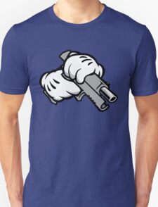 Ghetto Cartoon Hands with Gun T-Shirt