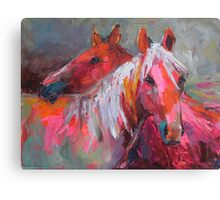 Contemporary Horses Svetlana Novikova Painting Canvas Print