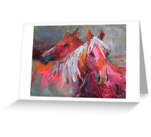 Contemporary Horses Svetlana Novikova Painting Greeting Card