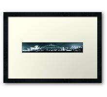 Sydney Harbour Bridge and Opear House Framed Print