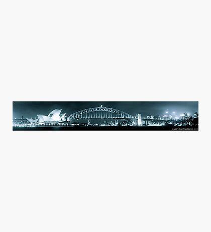 Sydney Harbour Bridge and Opear House Photographic Print