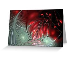 OILY - Abstract Red Bud Greeting Card