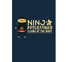 Programmer T-shirt : Ninja programmer. coding at the night Photographic Print
