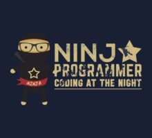 Programmer T-shirt : Ninja programmer. coding at the night by dmcloth