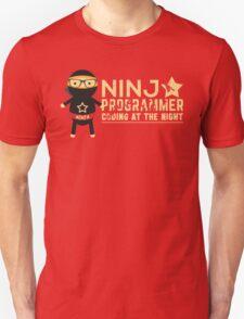 Programmer T-shirt : Ninja programmer. coding at the night T-Shirt