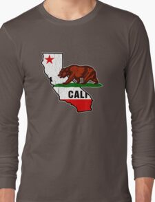 California Bear Flag (Distressed Vintage Design) Long Sleeve T-Shirt