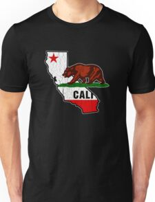 California Bear Flag (Distressed Vintage Design) Unisex T-Shirt