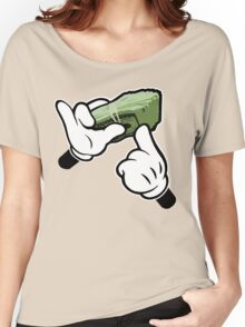 Make It Rain Cartoon Hands (Ghetto Fat Stack) Women's Relaxed Fit T-Shirt