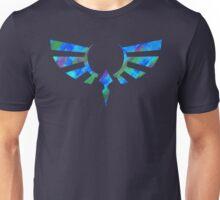 Hylian Crest Paint Blue Unisex T-Shirt