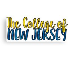 The College of New Jersey Two Tone Canvas Print