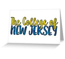 The College of New Jersey Two Tone Greeting Card