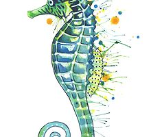 Seahorse - Green by SamNagel