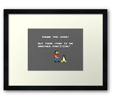 linux tux mario like troll Framed Print