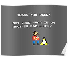 linux tux mario like troll Poster