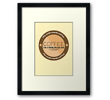 Programmer - My code needs coffee Framed Print