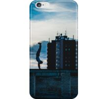 Handstand on an abandoned school iPhone Case/Skin