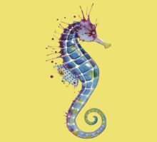 Seahorse - Purple Kids Clothes