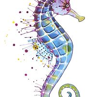 Seahorse - Purple by SamNagel
