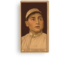 Benjamin K Edwards Collection Jimmy Block Chicago White Sox baseball card portrait Canvas Print