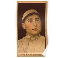 Benjamin K Edwards Collection Jimmy Block Chicago White Sox baseball card portrait Poster