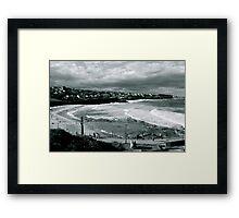 Bronte Beach Black and White Framed Print