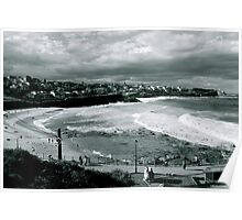 Bronte Beach Black and White Poster