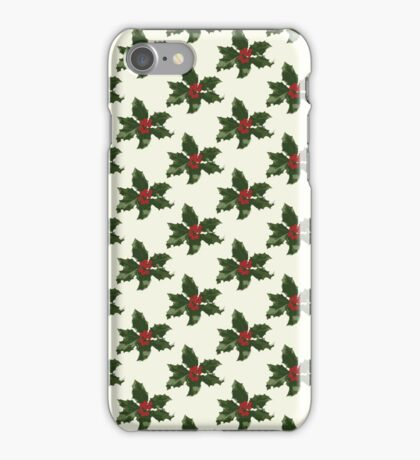 Holly Leaves Pattern Print iPhone Case/Skin