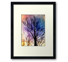 Fractal Rays of a Happy Tree Framed Print