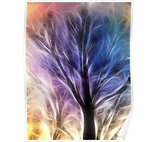 Fractal Rays of a Happy Tree Poster