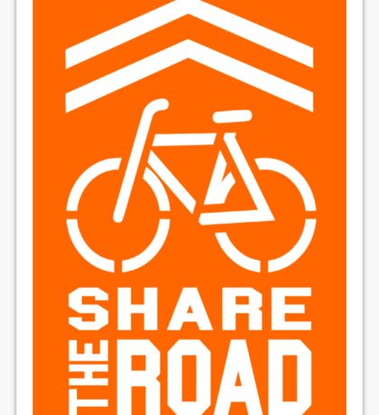 Share the Road Sticker - Orange Version Sticker